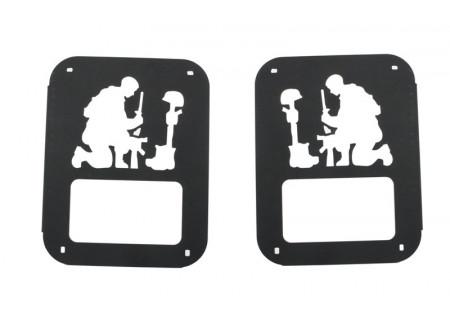 Rivestimento della protezione della protezione della lampada di coda adatto per JEEP JK (2007-2017) Army Soldier Design