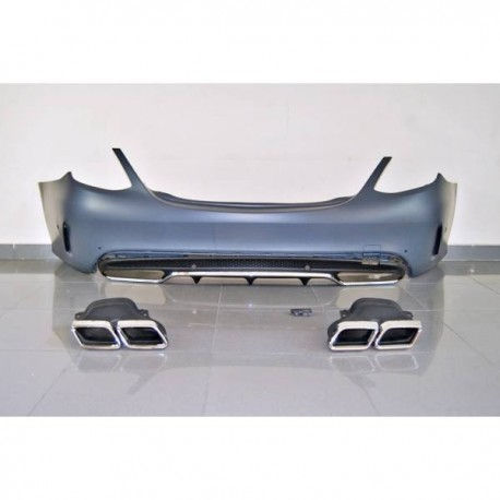 Paraurti Posteriori Mercedes W205 2014-2018 4P Look C63 Terminali di scarico TCM0136
