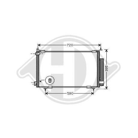Condensatore Climatizzatore CRV 02-06 DCC1653