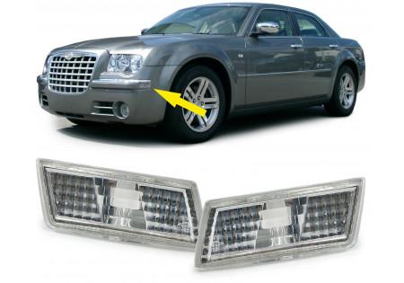 POSITIONS LICHT LEUCHTEN VORNE VETRO TRASPARENTE CROMATO PER Chrysler 300C BERLINA FAMILIARE