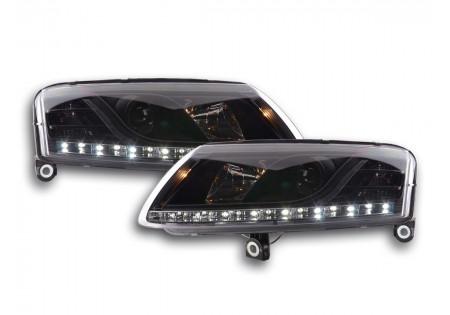 coppia fari Daylight Audi A6 tipo 4F anno di costr. 04-08 nero