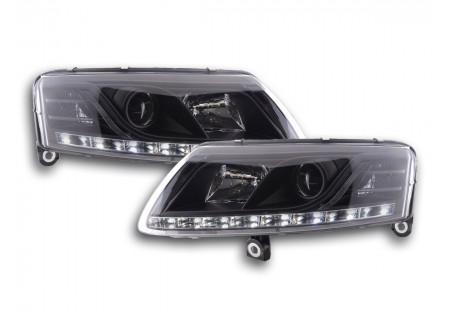 coppia fari luci di marcia diurna Daylight Audi A6 tipo 4F anno di costr. 04-08 nero