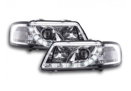coppia fari luci di marcia diurna Daylight Audi A3 tipo 8L anno di costr. 96-00 cromato