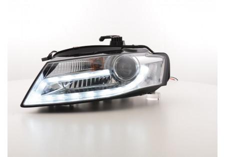 fari Daylight Audi A4 anno di cost. da 2008 cromato con luce di marcia diurna