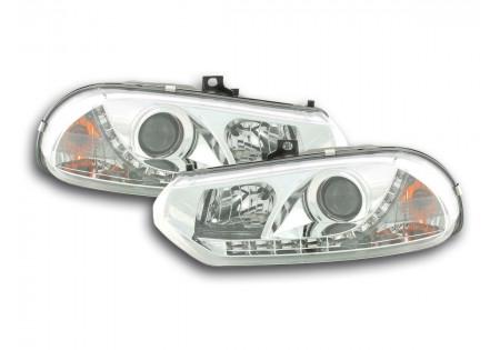 coppia fari Daylight Alfa Romeo 156 tipo 932 anno di costr. 98-02 cromato AC-CBFSAL010001