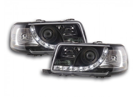 coppia fari Daylight Audi 80 tipo B4 anno di costr. 91-94 nero AC-CBFSAI9007