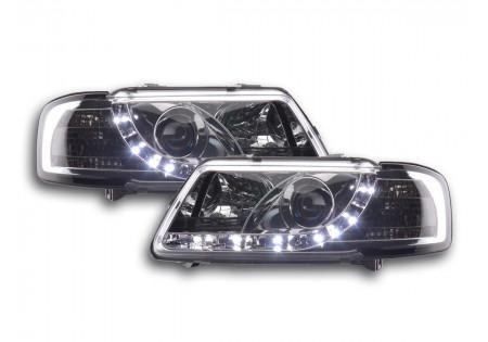 coppia fari Daylight Audi A3 tipo 8L anno di costr. 96-00 cromato