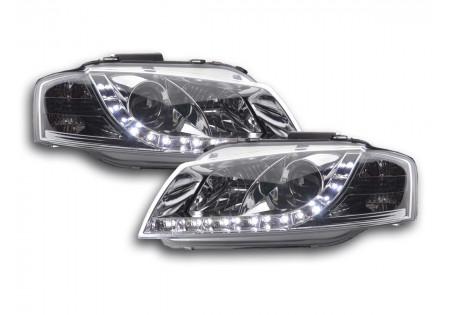 coppia fari Daylight Audi A3 tipo 8P anno di costr. 03-07 cromato