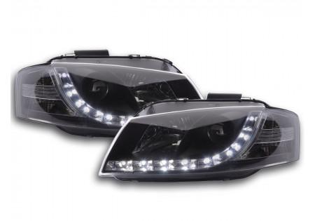 coppia fari Daylight Audi A3 tipo 8P anno di costr. 03-07 nero