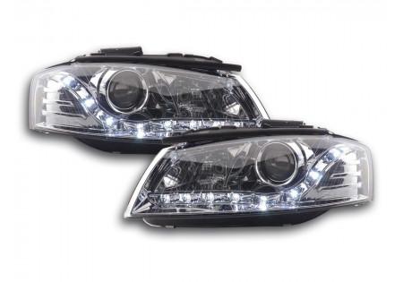 fari Daylight Audi A3 tipo 8P anno di costruzione 03-07 cromato