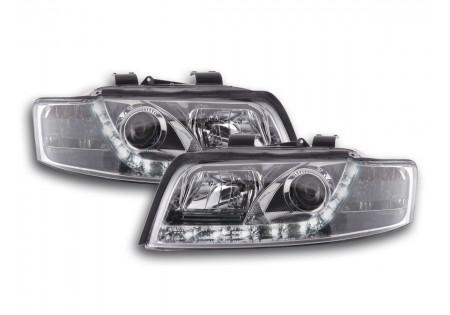 coppia fari luci di marcia diurna Daylight Audi A4 tipo 8E anno di costr. 01-04 cromato