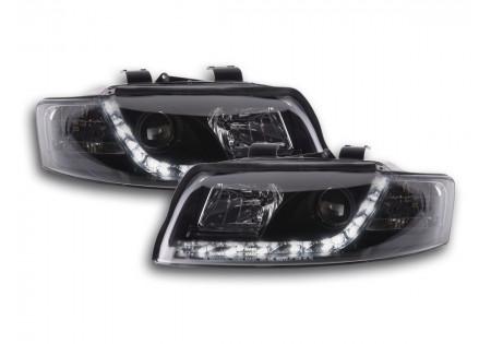 coppia fari luci di marcia diurna Daylight Audi A4 tipo 8E anno di costr. 01-04 nero