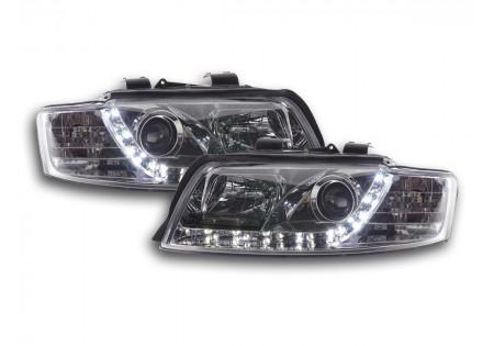 coppia fari Daylight Audi A4 tipo 8E anno di costr. 01-04 cromato