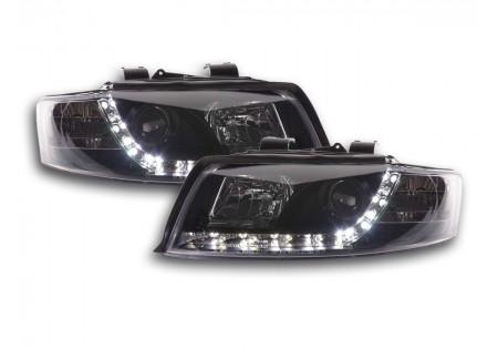 coppia fari Daylight Audi A4 tipo 8E anno di costr. 01-04 nero