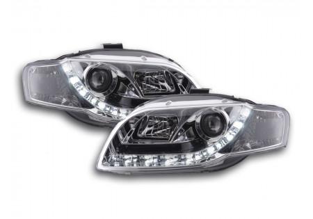 coppia fari luci di marcia diurna Daylight Audi A4 tipo 8E anno di costr. 04-08 cromato AC-CBFSAI010075