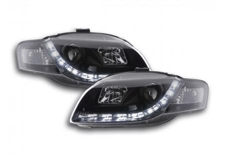 coppia fari luci di marcia diurna Daylight Audi A4 tipo 8E anno di costr. 04-08 nero