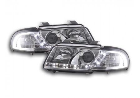 coppia fari Daylight Audi A4 tipo B5 anno di costr. 99-01 cromato