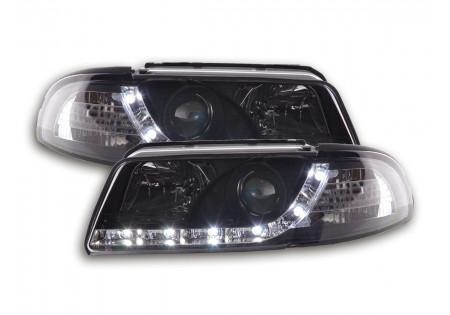 coppia fari Daylight Audi A4 tipo B5 anno di costr. 99-01 nero AC-CBFSAI9015