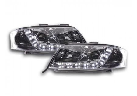 coppia fari Daylight Audi A6 tipo 4B anno di costr. 01-04 cromato