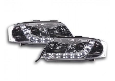 coppia fari Daylight Audi A6 tipo 4B anno di costr. 97-01 cromato