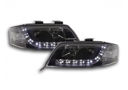 coppia fari Daylight Audi A6 tipo 4B anno di costr. 97-01 nero