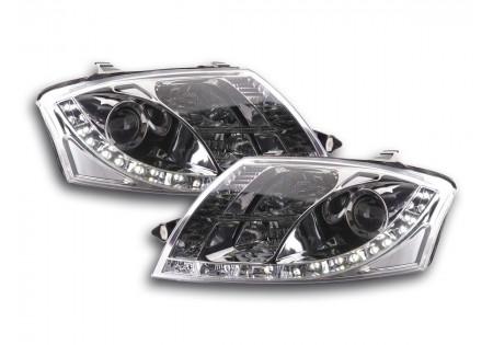 coppia fari Daylight Audi TT tipo 8N anno di costr. 99-06 cromato