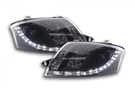 coppia fari Daylight Audi TT tipo 8N anno di costr. 99-06 nero AC-CBFSAI010047
