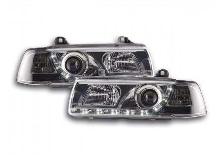 coppia fari Daylight BMW serie 3 Limo tipo E36 anno di costr. 92-98 cromato