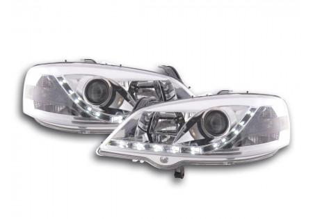 coppia fari Daylight Opel Astra G anno di costr. 98-03 cromato