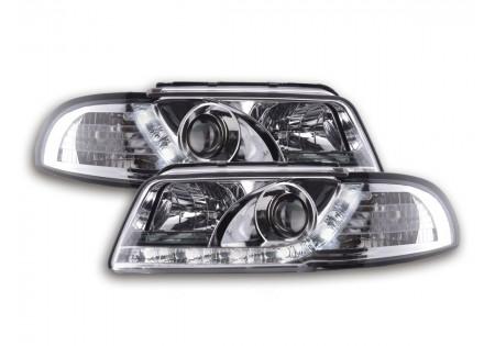 coppia fari luci di marcia diurna Daylight Audi A4 B5 8D anno di costr. 94-99 cromato