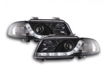 coppia fari luci di marcia diurna Daylight Audi A4 B5 8D anno di costr. 94-99 nero