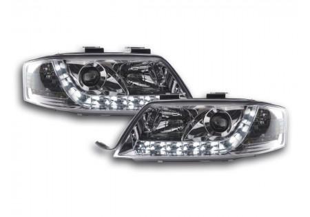 coppia fari luci di marcia diurna Daylight Audi A6 4B anno di costr. 97-00 cromato