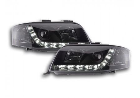 coppia fari luci di marcia diurna Daylight Audi A6 4B anno di costr. 01-03 nero