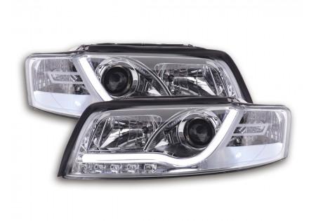 coppia fari Daylight coppia Audi A4 tipo 8E anno di costr. 01-04 cromato