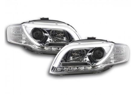 coppia fari Daylight coppia Audi A4 tipo 8E anno di costr. 05-07 cromato