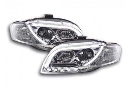 coppia fari Daylight coppia con luci di marcia diurna Audi A4 tipo 8E anno di costr. 05-07 cromato AC-CBFSAI13013