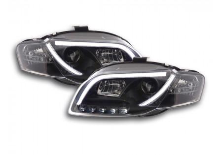 coppia fari Daylight coppia con luci di marcia diurna Audi A4 tipo 8E anno di costr. 05-07 nero AC-CBFSAI13015