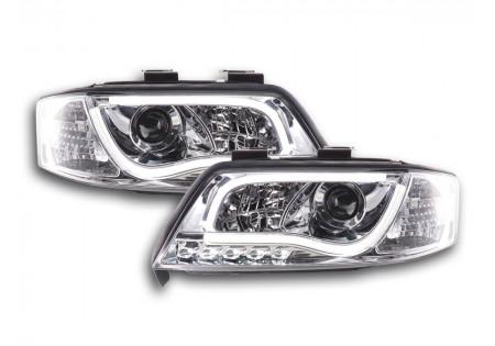 coppia fari Daylight coppia con luci di marcia diurna Audi A6 tipo 4B anno di costr. 97-01 cromato