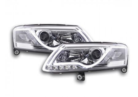 coppia fari Daylight coppia Audi A6 tipo 4F anno di costr. 04-08 cromato drl
