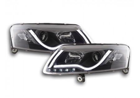 coppia fari Daylight coppia con luci diurne drl Audi A6 tipo 4F anno di costr. 04-08 nero xenon