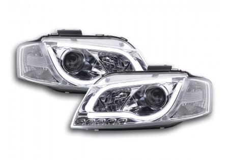 coppia fari Daylight coppia Audi A3 tipo 8P/8PA anno di costr. 03-08 cromato AC-CBFSAI13045