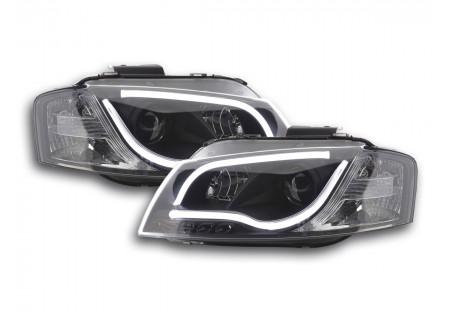 coppia fari Daylight coppia Audi A3 tipo 8P/8PA anno di costr. 03-08 nero AC-CBFSAI13047