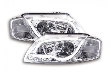 coppia fari Daylight coppia con luci di marcia diurna Audi A3 tipo 8P/8PA anno di costr. 03-08 cromato