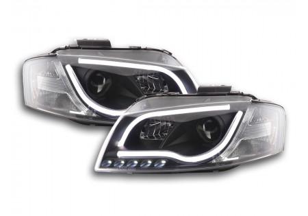 coppia fari Daylight coppia con luci di marcia diurna Audi A3 tipo 8P/8PA anno di costr. 03-08 nero AC-CBFSAI13051