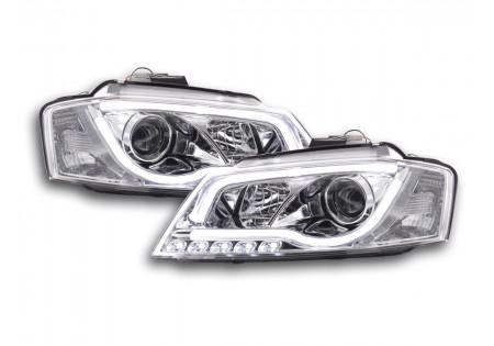 coppia fari luci di marcia diurna Daylight Audi A3 8P anno di costr. 08-12 cromato