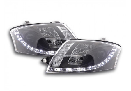 coppia fari Daylight Audi TT tipo 8N anno di costr. 99-06 nero