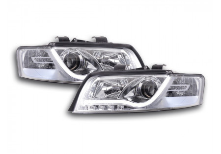 coppia di fari daylight Audi A4 tipo 8E anno di costr. 01-04 cromato