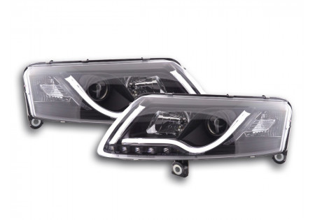coppia di fari daylight Audi A6 tipo 4F anno di costr. 04-08 nero xenon