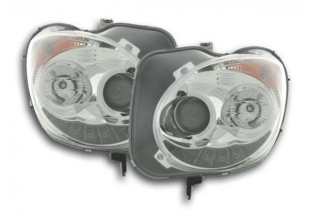 coppia fari luci di marcia diurna Daylight Alfa Romeo Mito anno di costr. 08- cromato AC-CBFSAL011001