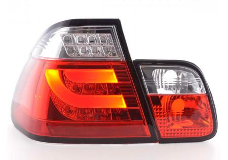 fanali posteriori LED BMW serie 3 E46 limousine anno di costr. 98-01 rosso/chiaro